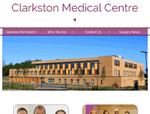 Tablet Preview of clarkstonmedicalcentre.co.uk